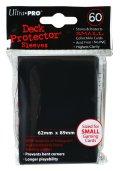 UltraPro デックプロテクターソリッド スリーブ ブラック ミニサイズ 60枚入 [Ultra・PRO]